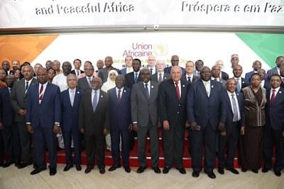 Réunion de l'Ua  lors du sommet de Niamey lors du sommet de Niamey