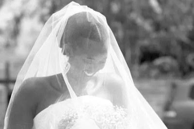 Rwandan President Paul Kagame's daughter Ange Ingabire Kagame on her wedding day.