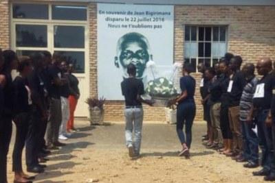 Hommage à Jean Bigirimana, journaliste d'Iwacu qui a disparu depuis le 22 juillet 2016.
