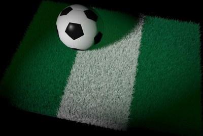 Nigeria flag and ball.