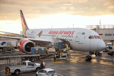 The inaugural KQ flight at the John F Kennedy airport in New York (file photo).