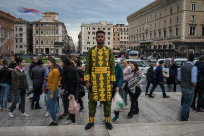 Mahamadou Sankareh, from Gambia, lives in Rome. He works at the Joel Nafuma Refugee Center.