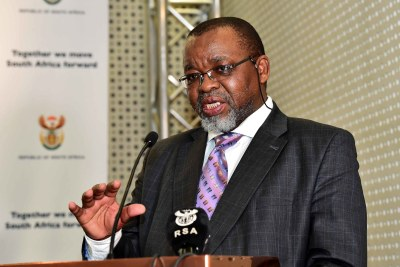 Minister Gwede Mantashe (file photo).