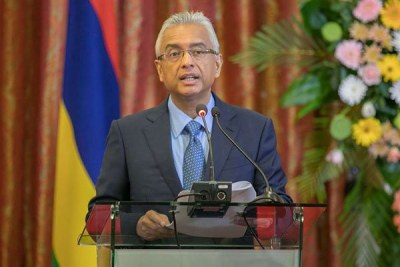 Mauritius Prime Minister Pravind Kumar Jugnauth. He succeeded his father Sir Anerood Jugnauth as prime minister in January 2017.