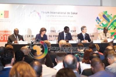 Conférence de presse présentant les orientations thématiques du Forum de Dakar 2019.