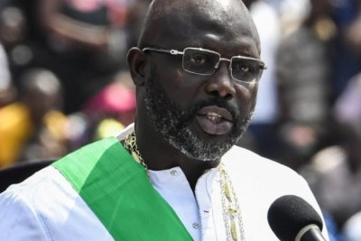 President George M. Weah on Inauguration day