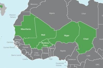 Les pays membres du G5 Sahel