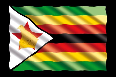 Zimbabwe flag.