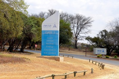An entrance at the Pelindaba Nuclear Research Centre (file photo).