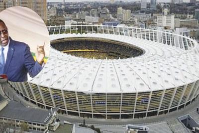 La maquette du futur Stade olympique