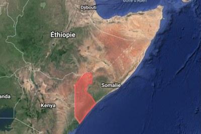 La région semi-autonome du Jubaland, dans le sud de la Somalie.