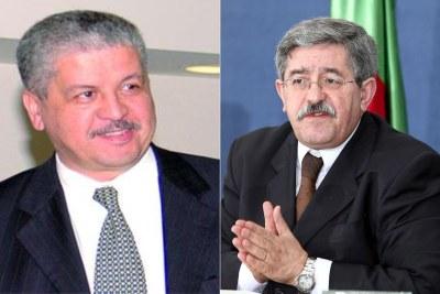 Deux anciens Premiers ministres, Ahmed Ouyahia à droite et Abdelmalek Sellal