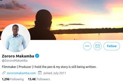 Zororo Makamba twitter.