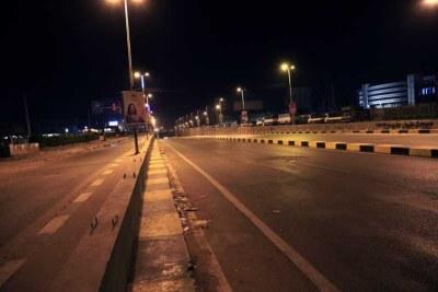 Rue déserte au Soudan