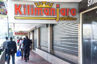 Kilimanjaro Jamia restaurant in Nairobi shut its doors to the public on March 23.