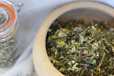 Wormwood and other herbs dried into an infusion (file photo).