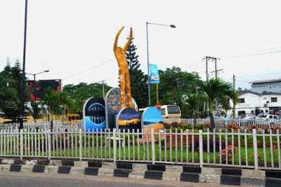 A Fela Kuti statue in Lagos.