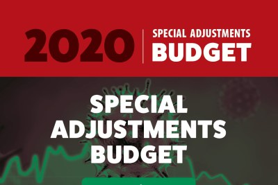 A South African Treasury graphic to illustrate the June 24 Supplementary Budget.