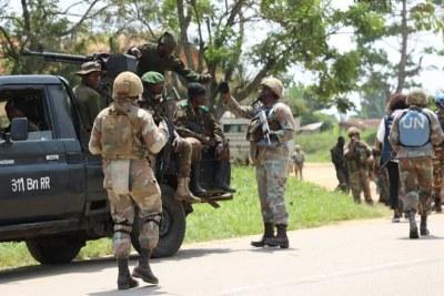 Forces armées de la République démocratique du Congo (FARDC and MONUSCO repelled an ADF attack on 12 February 2020 in Mbau (Beni, North Kivu)