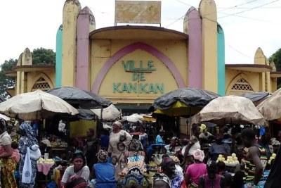 Centre-ville de Kankan en Guinée. (Image d'illustration)