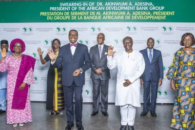 The swearing-in ceremony, which took place at the Bank's Abidjan headquarters was presided over by newly appointed Chair of the Board of Governors, Ghanaian Finance Minister Kenneth Ofori-Atta, who administered the Oath Office.