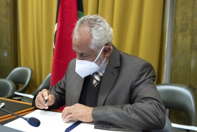 The ceasefire agreement is signed by  Ahmed Ali Abushahma, the head of the Tripoli-based Government of National Accord's military delegation.