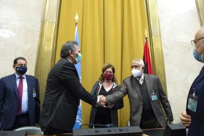 Réunion de la Commission militaire mixte libyenne à Genève.