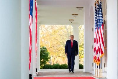 President Donald Trump in the White House on Friday, November 13, 2020.