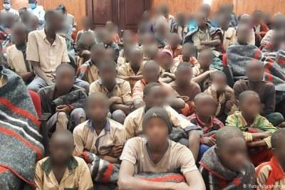 Nigerian schoolboys (file photo).