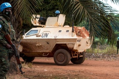 MINUSCA peacekeepers on patrol in Bangassou, Central African Republic (file image).