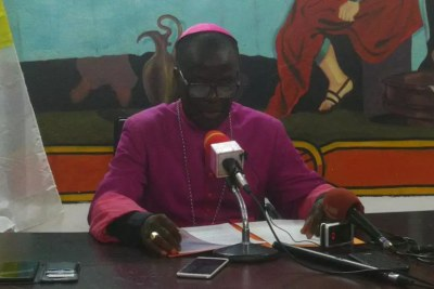 Monseigneur Victor Abagna Mossa, archevêque d'Owando et porte-parole de la conférence épiscopale congolaise