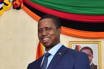 President Edgar Lungu (file photo).