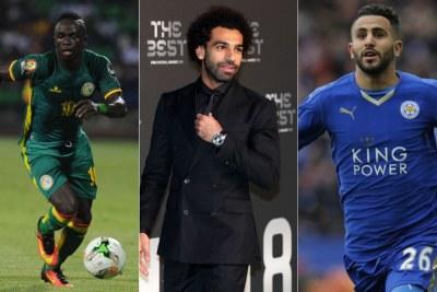 Sadio Mané, Mohamed Salah et Riyad Mahrez