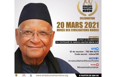 M. Amadou Mahtar Mbow, ancien secrétaire général de l'UNESCO