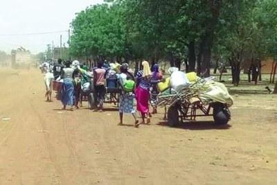 Displaced people in Burkina Faso (file photo).