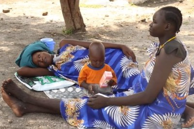 Patients at the Adok Primary Health Care Center in Leer County, Unity State, South Sudan.