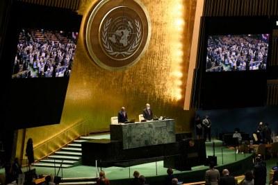 Le 76e débat général de l'Assemblée générale des Nations Unies